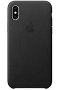 Apple Coque en cuir pour iPhone X Noir