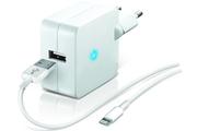 Temium CHARGEUR SECTEUR USB BLANC 2.1A AVEC CABLE LIGHTNING