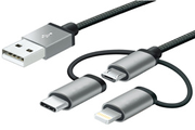 Mobility Lab CABLE 3 EN 1 MICRO USB LIGHTNING USB TYPE C