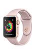 Apple Watch Series 3 GPS 38mm - Boîtier en aluminium or avec Bracelet Sport rose des sables