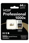 Lexar PROFESSIONAL 1000x MICRO SDXC 64 Go