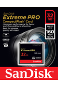 Sandisk Carte Mémoire Compact Flash Extreme Pro 160MB/s 32 GB VPG 65, UDMA 7