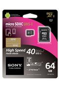 Sony MICRO SDXC 64 GO UHS1 SD + ADAPTATEUR SD