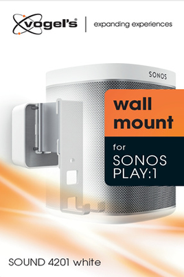 Vogel's SOUND 4201 Support mural pour Sonos PLAY:1 BLANC