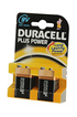 Duracell 9V 6LR61 x2 PLUS POWER