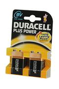 Duracell 9V 6LR61 x2 PLUS POWER
