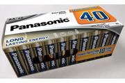 Panasonic Pack de 40 piles LR6 AA