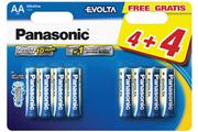 Panasonic LR06 AA 4+4