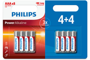 Philips pack de piles 4+4 AAA