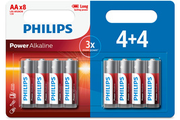 Philips Pack de piles 4+4 AA