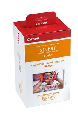 Canon Canon Kit encre et papiers d'origine pour Imprimante Photo Selphy 108 tirages 100x148mm + 2 cassettes