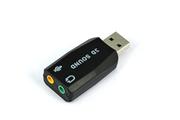 Temium Adaptateur USB 2.0 vers 2 jack 3,5 mm (son et audio)