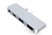 Hyperdrive Surface Go Hub HDMI/USB/USB-C/Jack Silver