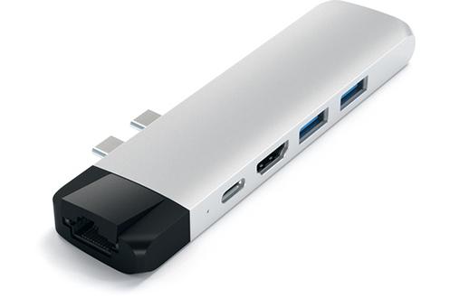 Satechi Hub avec Ethernet et HDMI 4K Silver