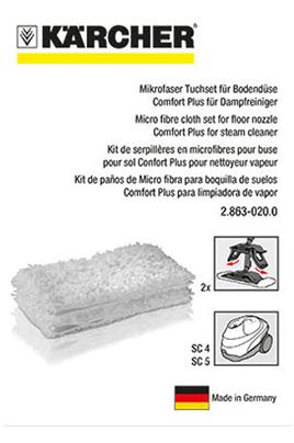 karcher kit 2 serpilleres microfibres pour sc4 sc5. Black Bedroom Furniture Sets. Home Design Ideas