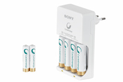 Sony POWER CHARGER + 4 PILES AA + 2 PILES AAA