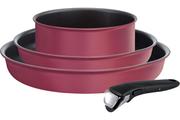 Tefal INGENIO PERFORMANCE Rouge Gamay Induction Batterie de cuisine 4 pièces