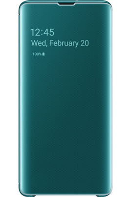 Samsung Clear Ciew Cover pour Samsung Galaxy S10+ Vert