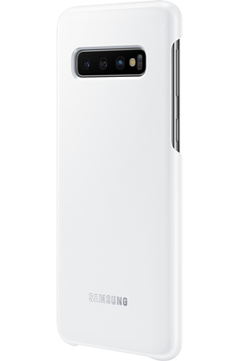 Samsung Coque LED pour Samsung Galaxy S10 Blanc