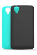 Wiko 2 coques Noir et turquoise pour Wiko Goa