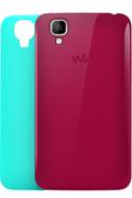 Wiko 2 coques Fuschia et Turquoise pour Wiko Goa