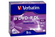 Verbatim DVD+R DL 8,5 Go X5