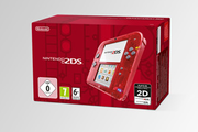 Nintendo NINTENDO 2DS ROUGE TRANPARENT + STYLET + CARTE SD 4 GO + 6 CARTES RA+ ALIMENTATION