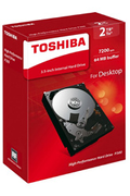 Toshiba P300 - High-performance Hard Drive 2 To - 7200 tpm - 64 Mo