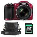 Nikon COOLPIX L830 ROUGE + ETUI + SD 4 Go