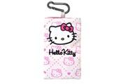 Hello Kitty Hello Kitty étui pouch cuir blanc dessin rose avec anneau