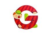 JANOD Lettre décorative clown en bois : G