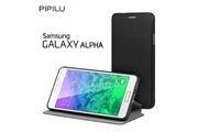 Pipilu Folio Pipilu Premium Noir pour Samsung Galaxy Alpha