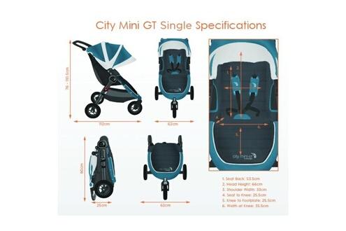 BABY JOGGER Poussette City Mini GT Black BABY JOGGER