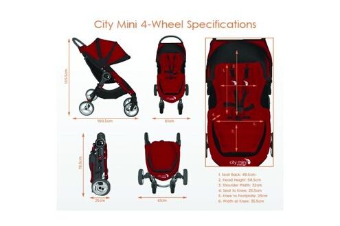 BABY JOGGER Poussette City Mini 4 roues Noir BABY JOGGER
