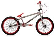 KS Cycling BMX Freestyle 20'' Twentyinch gris rouge 4 Pegs KS Cycling