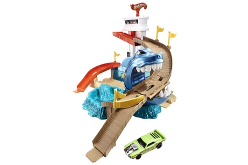 Mattel Circuit de voitures Hot Wheels : Piste Requin Attaque