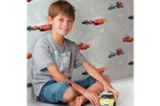 DECOFUN Rouleau papier peint cars 2 race track disney