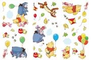 DECOFUN 36 stickers winnie l'ourson disney repositionnable