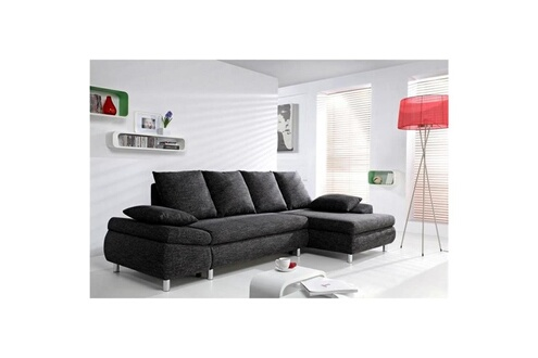 D'angle Canapé Anthracite Switsofa Ii Droit Naho Convertible Tissu eYI29WHbED