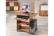 Homelife24 Bureau Adda Informatique Meuble Pc Portable Sur Roulettes Décor Noyer Dim. 800x750x500