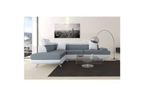 switsofa canap dangle gauche switsofa scoop grisblanc - Canape D Angle Gris Et Blanc