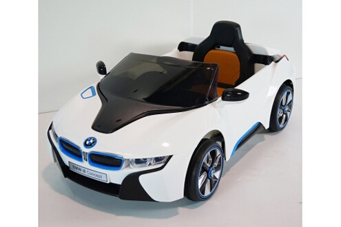 bmw voiture lectrique enfant bmw i8 coup t l commande blanc. Black Bedroom Furniture Sets. Home Design Ideas