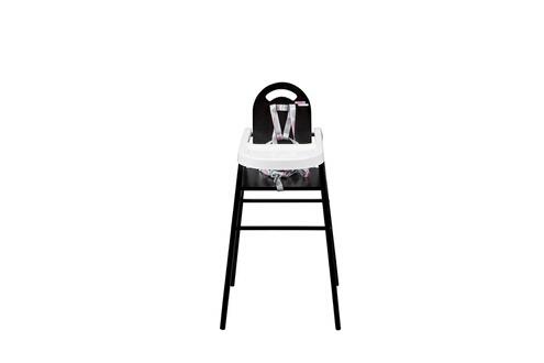 COMBELLE Chaise Haute Bebe Noir Simple Avec Sa Table Lavable