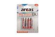 Arcas Pack de 4 piles Digi-Alcaline Micro AAA Arcas