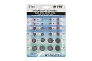 Arcas Pack de 24 piles bouton Arcas AG1 till CR2032