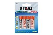 Arcas Pack de 4 accu Arcas AA Mignon 2700mAH
