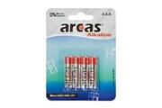 Arcas Pack de 4 piles Alcaline Micro AAA Arcas