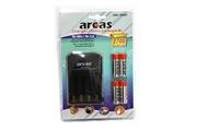 Arcas Chargeur universel Arcas ARC-2009 avec 4 accus AA 2700