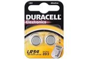 Duracell Pile Bouton alcaline - 2pcs blister - DuraPile AG10, LR54, LR1130, 189, RW89,V10GA - LR 54 / AG 10 / V 10 GA Duracell 2BL
