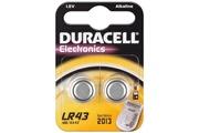 Duracell Pile Bouton alcaline - 2 pcs Blister DuraPile - AG12, LR43, L1142, V12GA, 4278 - LR 43 / AG 12 / V 12 GA Duracell 2BL